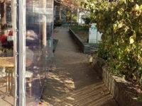 Átlátszó ponyva terasz a Pozsonyi úton