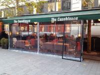 Átlátszó terasz a Váci utcában, Budapesten