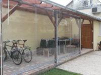 Egyedi víztiszta ponyva, kerékpár tároló